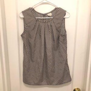 Tank pattern blouse